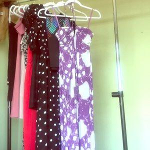 BCBG purple maxi dress